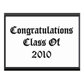 Congratulations Class Of 2010 Postcard