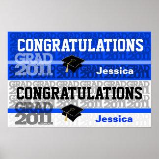 Congratulations Class of 2011 Banner Poster Blue