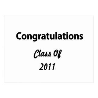 Congratulations Class Of 2011 Postcard