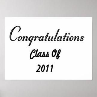 Congratulations Class Of 2011 Poster