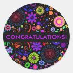 Congratulations Classic Round Sticker