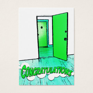 congratulations comic condo business card