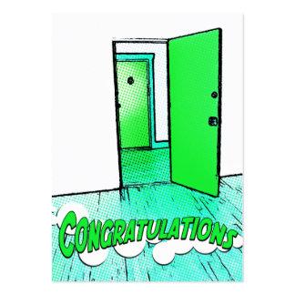 congratulations comic condo large business card