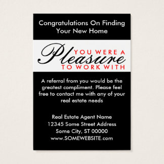 congratulations comic door business card