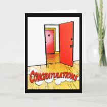 congratulations comic door card