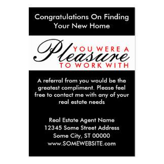 congratulations comic door large business card