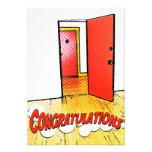 congratulations comic door personalized invites
