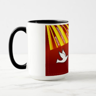 Congratulations Confirmation Dove with Gold and Re Mug