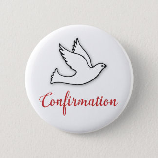 Congratulations Confirmation Dove with Gold, Red Button