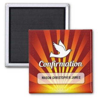 Congratulations Confirmation Dove with Gold, Red Magnet