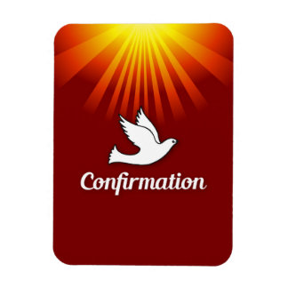 Congratulations Confirmation Dove with Gold/Red Magnet