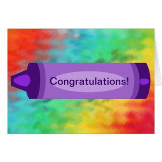 Congratulations Crayon Greeting Card