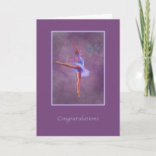 Congratulations, Dance Recital, Ballerina Card