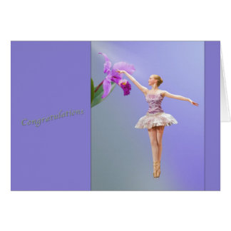 Congratulations, Dance Recital, Ballerina, Orchid Card