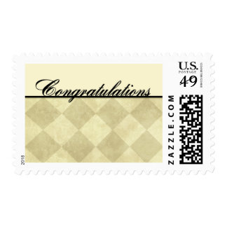 Congratulations - Diamonds Postage Stamps