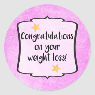 Congratulations Diet Fitness Slimming Club Planner Classic Round Sticker