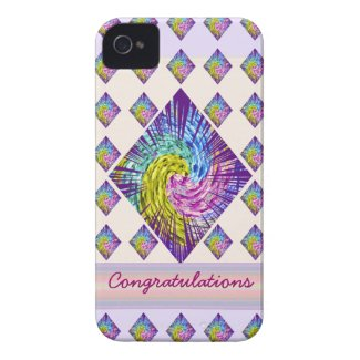 Congratulations : Editable Text to yr own Greeting Case-Mate iPhone 4 Case