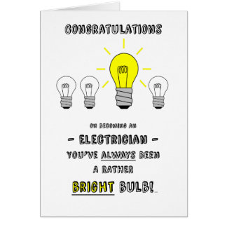 Congratulations Electrician Future is Bright Cards
