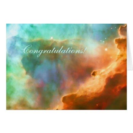 Congratulations, enlarged area of The Omega Nebula Card