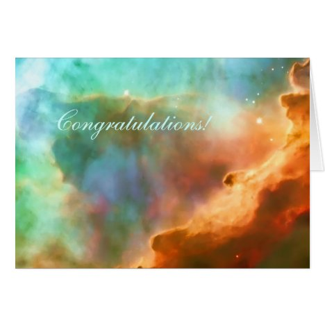 Congratulations, enlarged area of The Omega Nebula Card