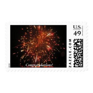 Congratulations Fireworks Postage