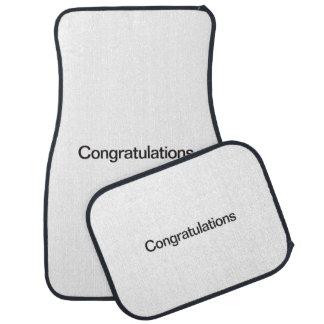 Congratulations Floor Mat