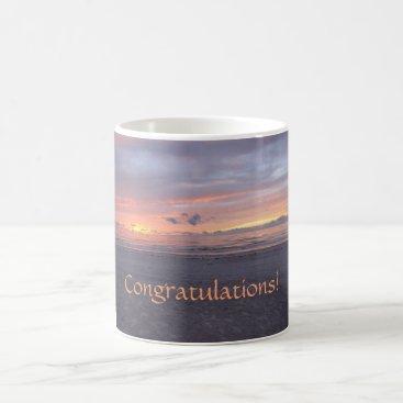 Beach Themed Congratulations! Florida Beach Sunset Coffee Mug