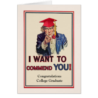 Congratulations for College Graduate, Uncle Sam Card