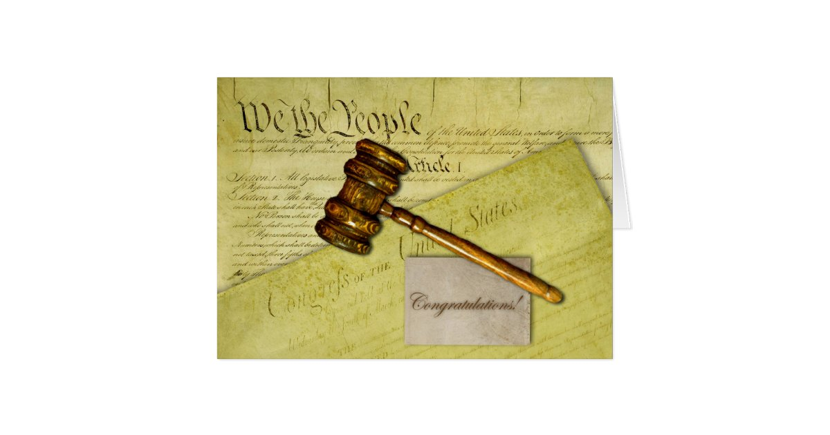Congratulations For Lawyer Judge Or Attorney Card