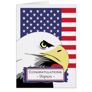 Congratulations for Stepson, Basic Training, Eagle Card