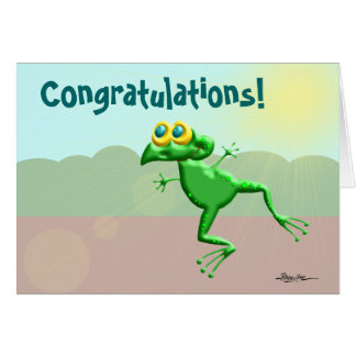 Congratulations Frogs Greeting Card