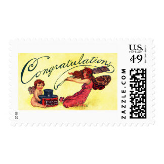 Congratulations From Fairies Postage
