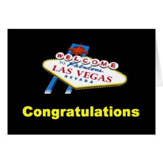 Congratulations from Las Vegas Card