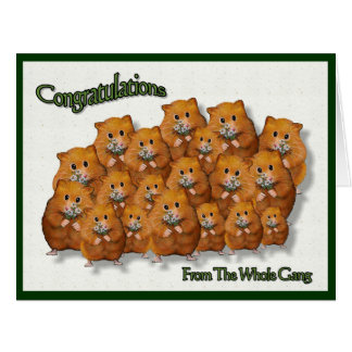 Congratulations From The Gang; Crowd of Hamsters Card