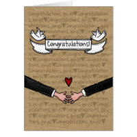 Congratulations - Gay Wedding Couple Card