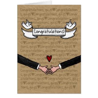 Congratulations - Gay Wedding Couple Cards