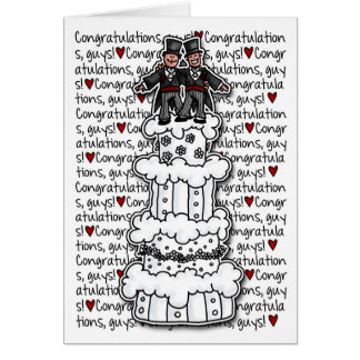 Congratulations - Gay Wedding Couple Greeting Cards