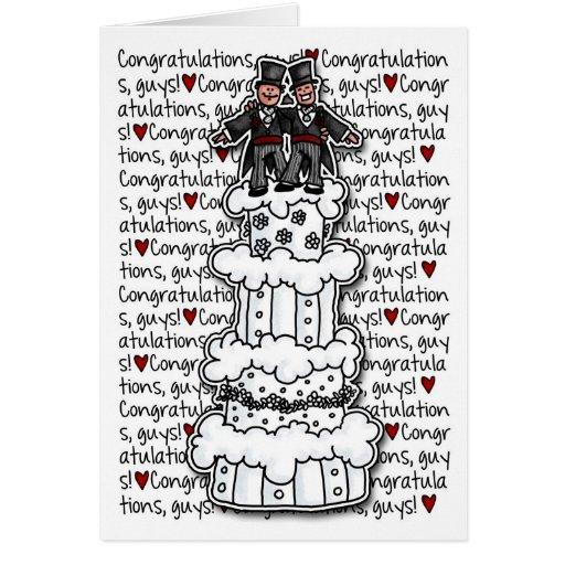 Congratulations - Gay Wedding Couple Greeting Cards