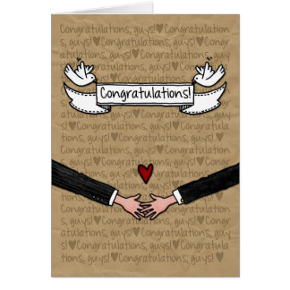Congratulations - Gay Wedding Couple Cards