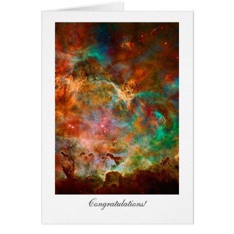 Congratulations - General, Carina Nebula Stars Card