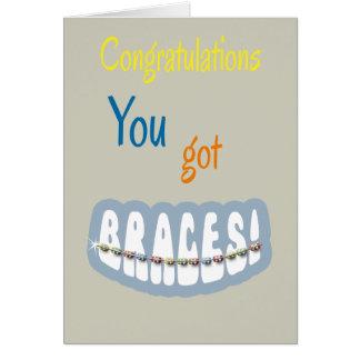 Congratulations Getting Braces - Braces Smile Boy Card