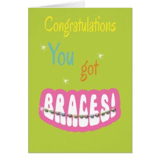 Congratulations Getting Braces - Braces Smile Girl Card