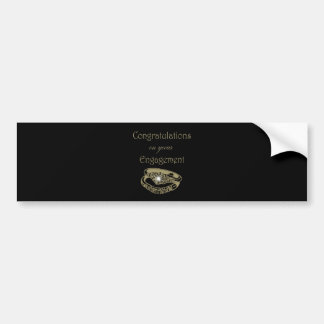 Congratulations Gold Engagement Rings Bumper Stickers