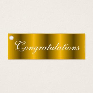 Congratulations gold gift tag