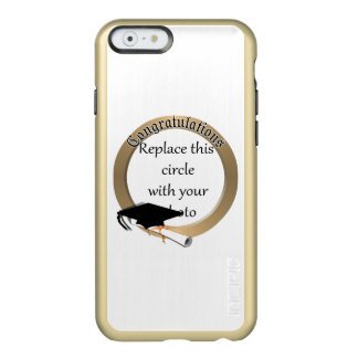 'Congratulations' Gold Graduation Photo Frame Incipio Feather® Shine iPhone 6 Case