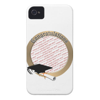 'Congratulations' Gold Graduation  Photo Frame iPhone 4 Covers