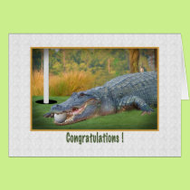 Congratulations, Golf, Hole-In-One Card