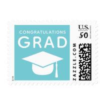 Congratulations Grad Blue Graduation Stamps