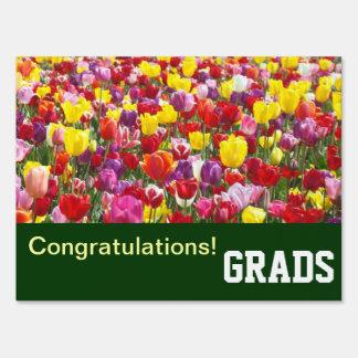 Congratulations! GRADS outdoor yard Lawn signs