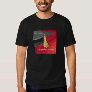 Congratulations Graduate Black and Red T Shirt